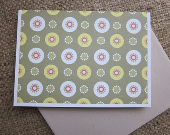 Allover Dot - folded blank note cards - 8 pack