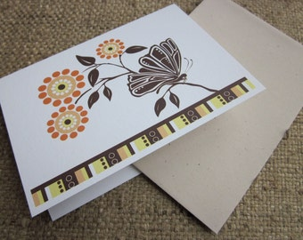 Butterfly Silhouette - blank note cards - 8 pack