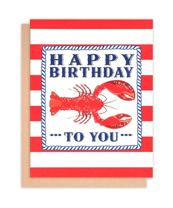 Red Lobster Happy Birthday Greeting Card