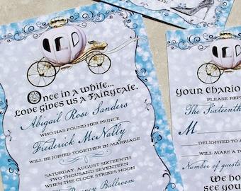 Cinderella Wedding Invitations Etsy