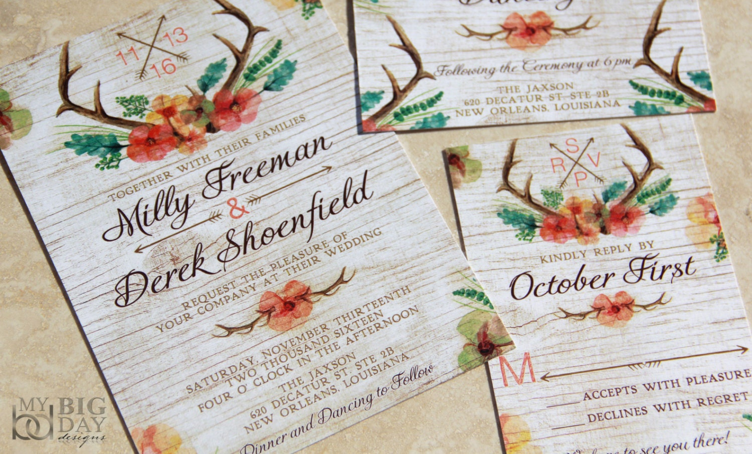 50: Rustic Wedding Invitations Fall Colors At Reisefeber.org