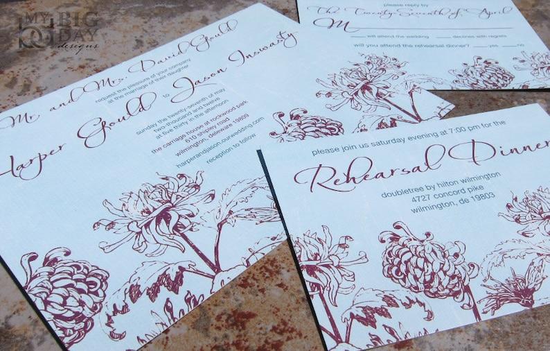 Flower petals wedding invitations Trendy floral wedding invitations Modern Floral wedding Invitation Set