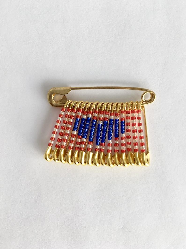 USA Heart Pin Teacher Gifts Handmade Beaded Flag Gift