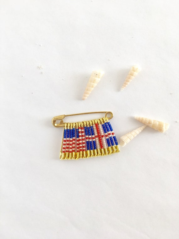 US Iceland Pin Gift For Her Handmade Birthday USA