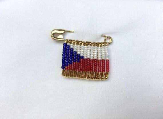 Flaggen-Pin//Anstecker Libanon vergoldet