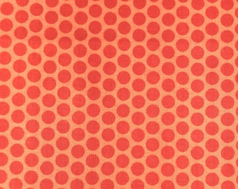 Orange blender fabric, Orange dots tone on tone fabric from Riley Blake 100% cotton  for Quilting, art, crafts and general sewing projects
