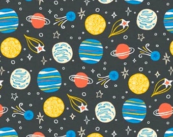 Universe fabric, Planets fabric, Galaxy fabric, Stars and Planets fabric, Kids fabric 100% cotton fabric for Quilting and sewing