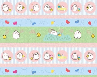 Molang Butterflies White Riley Blake Cotton Fabric
