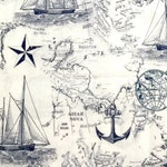 Nautical fabric, Nautical map, Vintage cartography, Baby boy nautical fabric 100% cotton fabric for Quilting and general sewing projects.
