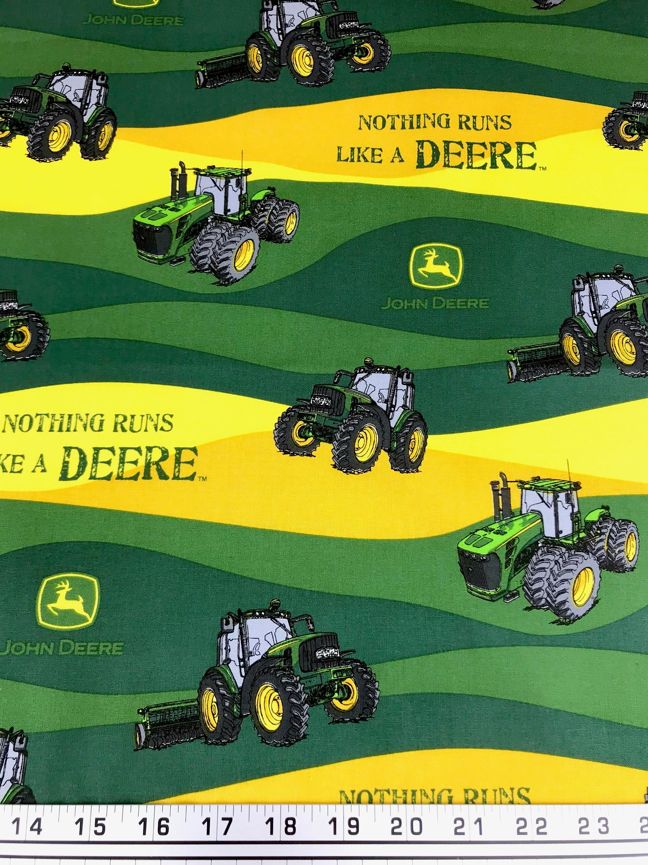 Jd Handmade Creations: John Deere Fabric Country Farm Tractor With Green And Yellow