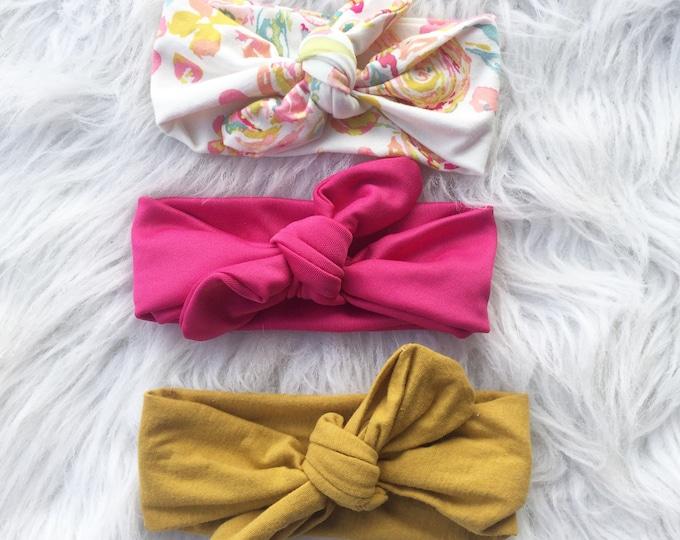 Head wrap set mustard headwrap, floral headwrap , baby headband , kid headwrap, headwrap