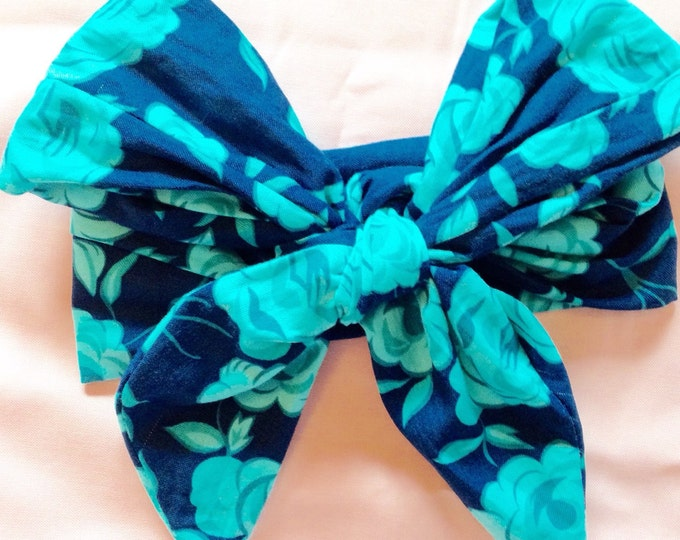 navy floral headwrap