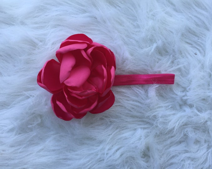Huge infant flower headband hot pink