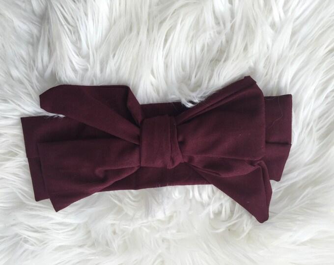 emerson burgundy headwrap