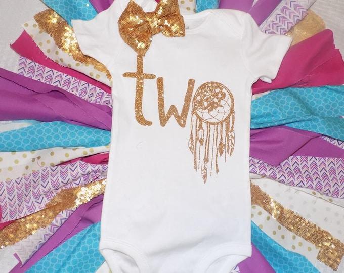 second birthday onesie, boho baby onesie, boho birthday onesie,