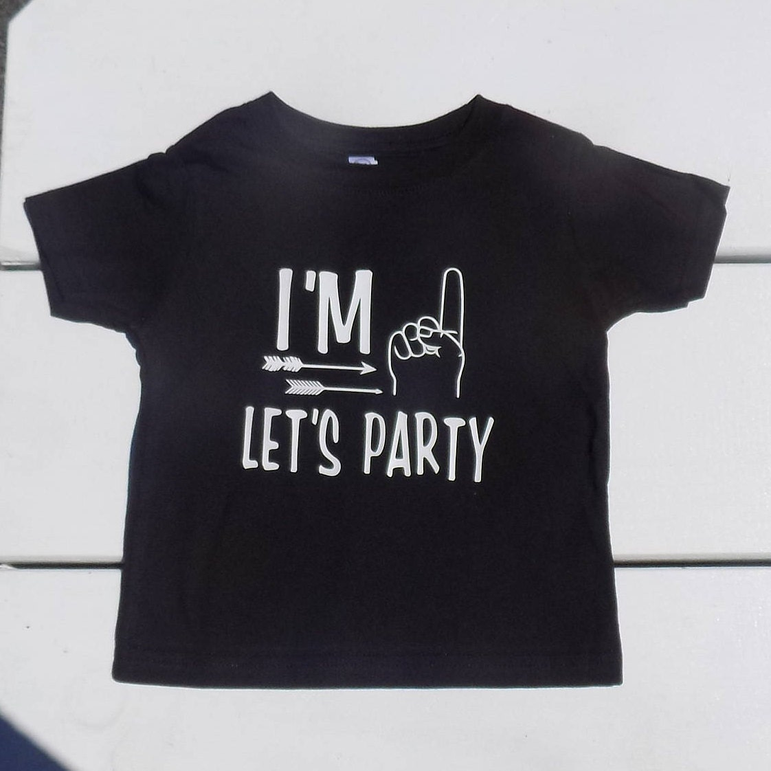 Im One Lets Party Tee Shirt First Birthday Boy
