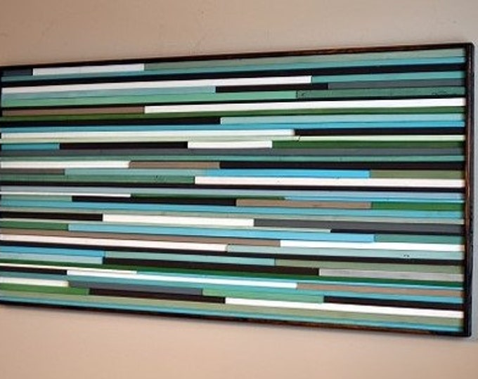 Wood Wall Art - Wood Sculpture -  3D Art - Wall Art - Reclaimed Wood Art -  24x48