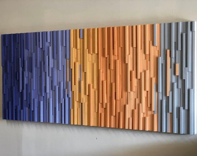 Wood Wall Art Extra Large - Wall Art - Wood Sculpture -  Modern Wall Art - 3D Art - Headboard - Landscape - Commercial Art