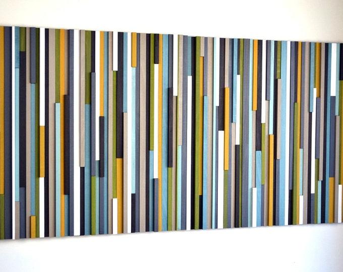Wood Wall Art - Wood Art Sculpture - 3D Art - Wooden Art - Living Room Wall Art - Bedroom Wall Art - 36x72