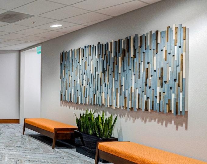 Wood Wall Art Large - Wood Wall Art Geometric - Wood Sculpture Wall Art -  Wood Wall Art Modern - Commercial Art