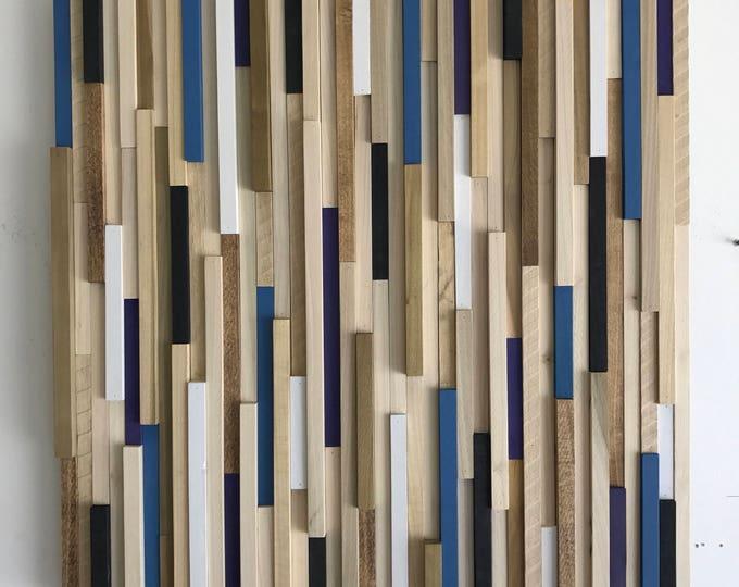 Wood Wall Art - Wood Sculpture - 3D Art -  Wood Art - 30x30
