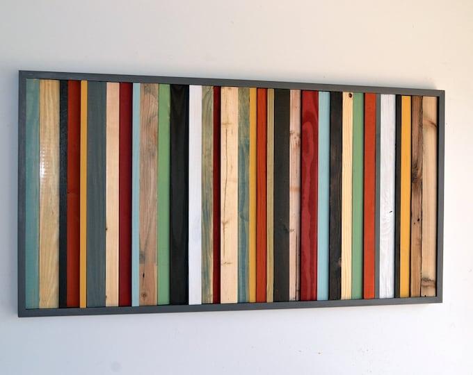 Wood Wall Art - Wood Art - Reclaimed Wood Wall Art - Wooden Wall Art - Rustic Wood Artwork -  24X48