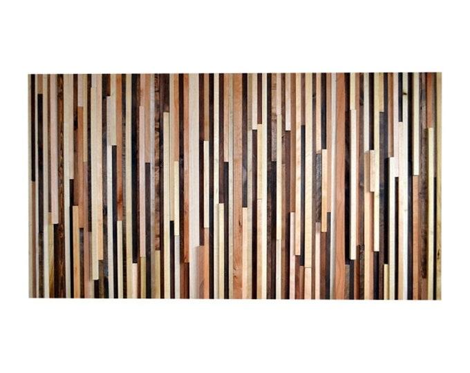 Wood Wall Art - Wood Sculpture Queen Headboard or Wall Art - 3D Art - 36 x 64