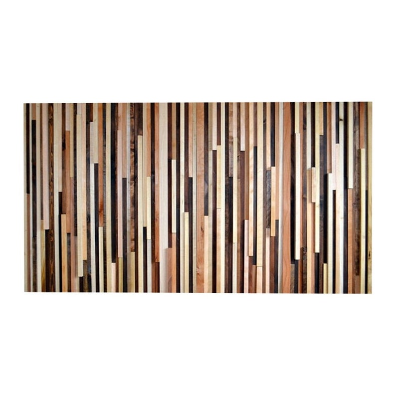 Wood Wall Art  Wood Sculpture Queen Headboard or Wall Art  image 0