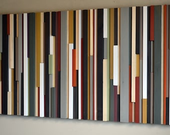 Wood Wall Art Large - Wood Art - Modern Wood Art - Contemporary Wall Art - Libing Room Wall Art - Bedroom Wall Art - 24 x 48