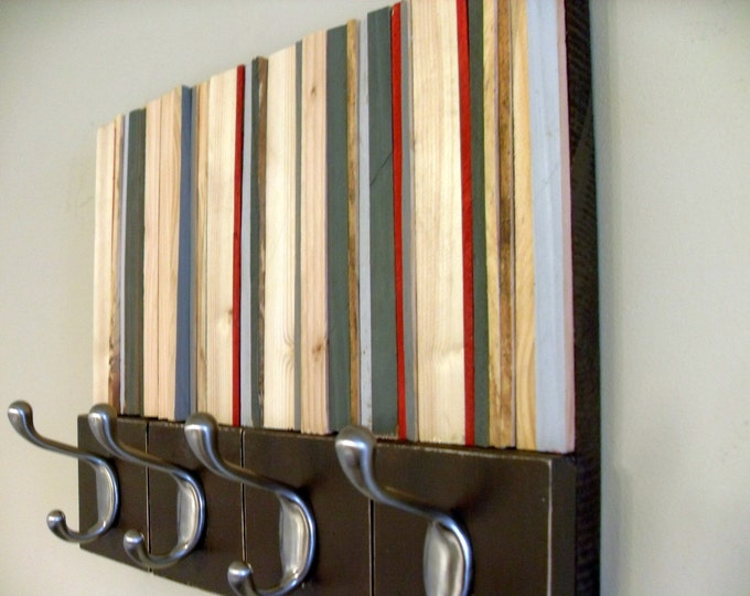 Coat Rack, Hooks,  Wall Mount, 14x11