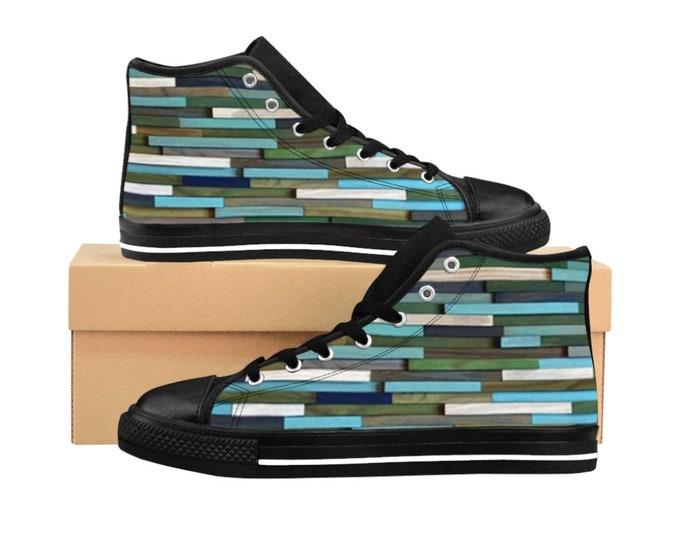 Men's or Women's High-top Sneakers Hi Top Sneakers Colorful High Top Sneakers by Modern Textures