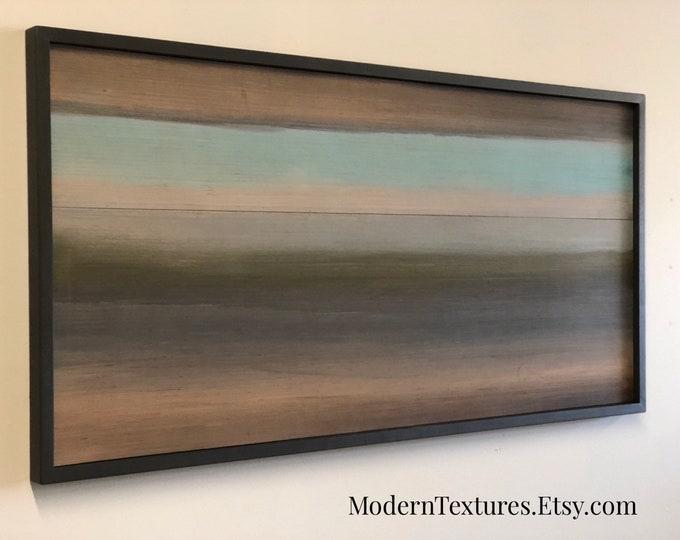 Wood Wall Art - Wood Art Sculpture - Wood Art - Modern Wall Art -  Abstract Painting on Wood - Mid Century Modern - 48x24 - Serenity