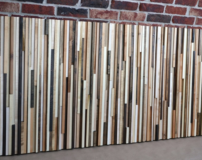 Wood Wall Art - Wood Sculpture - King Headboard - 3d Art -  36x78