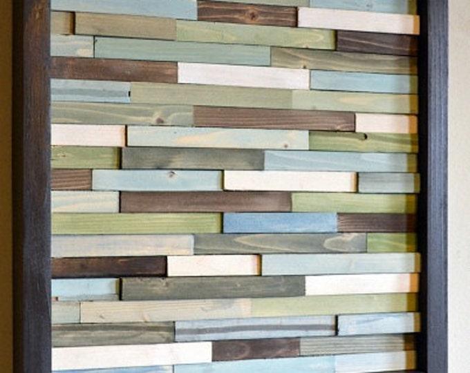 Wood Wall Art - Small Wall Art - Green Artwork