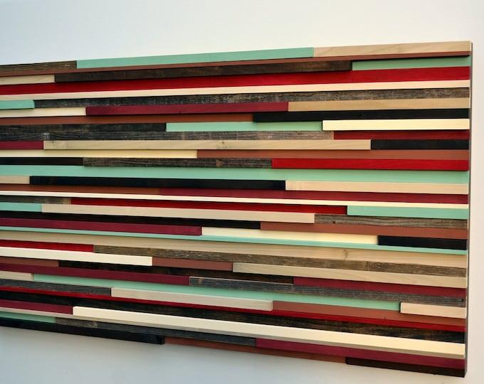 Wood Wall Art - Modern Wall Art Wood Sculpture - Art on Wood - 3D Art - 24x48