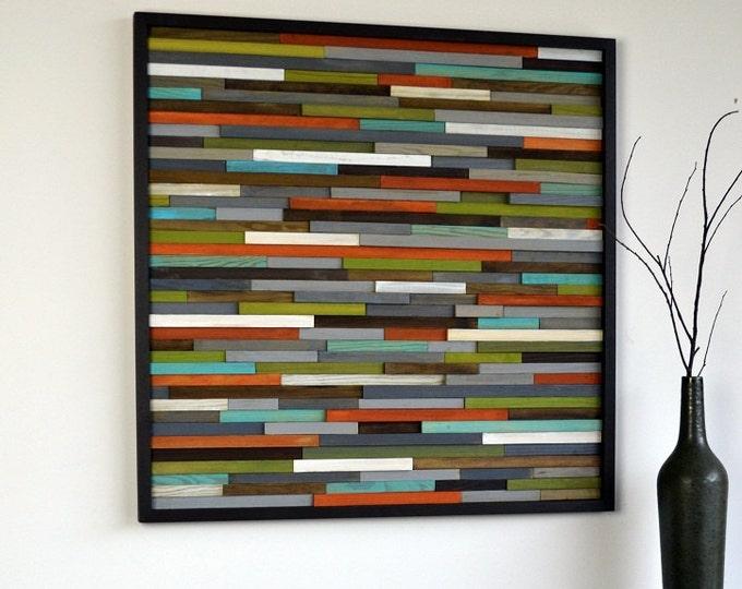 Wood Wall Art - Wooden Art - Reclaimed Wood - Abstract Sculpture - 30x30