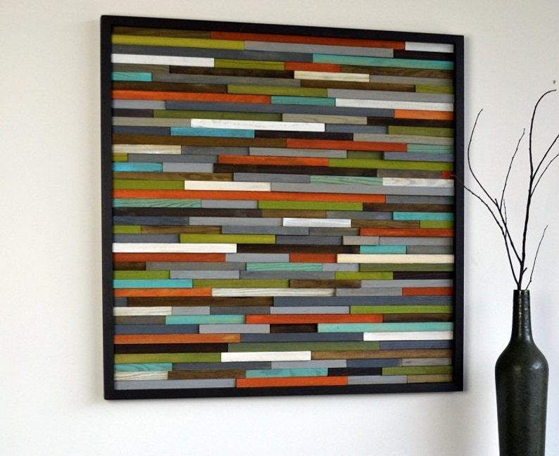 Wood Wall Art  Wooden Art  Reclaimed Wood  Abstract image 0