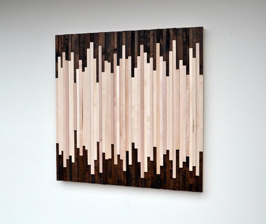 Wood Wall Art Wood Art Sculpture Reclaimed Wood Art Wall Installation
