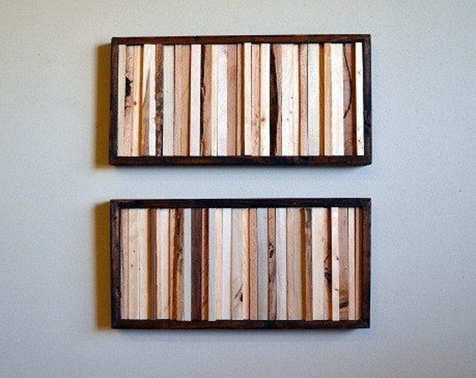 Wood Wall Art, Wood Art, Wall Art, Rustic Wall Art, 8x16 Set