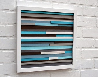 Wood Wall Art - Wood Art - Reclaimed Wood Art - 12x12 - FREE SHIPPING!