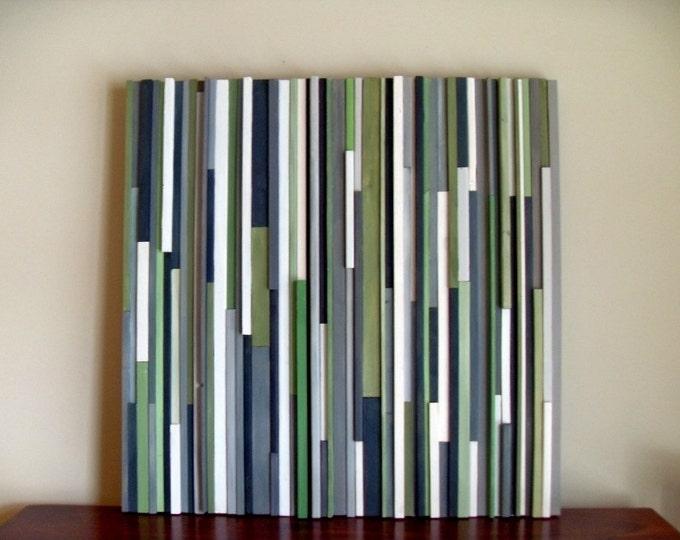 Wood Wall Art -  Green Wall Art - 36x36