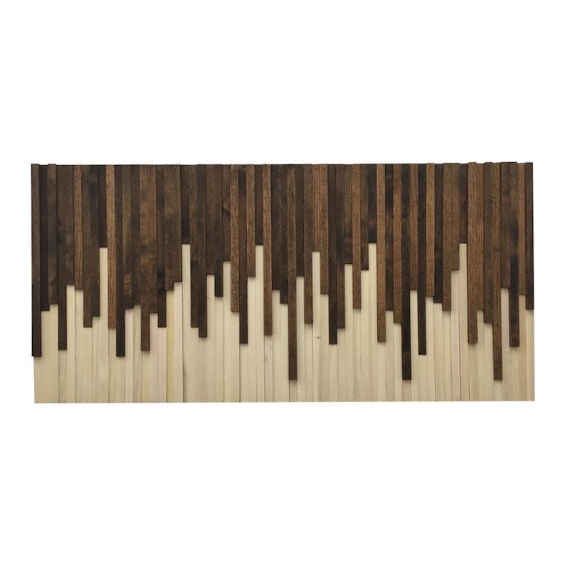 Painting on Wood Reclaimed Modern Wood Art Living Room Decor image 0
