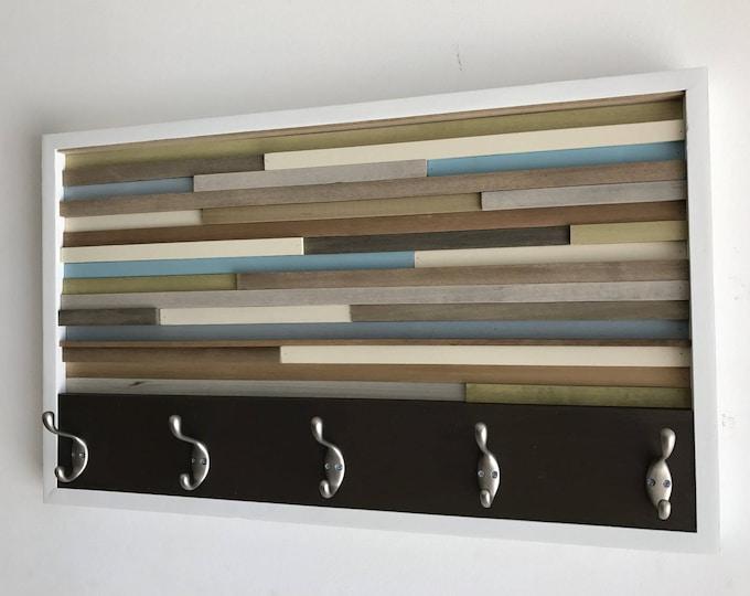 Coat Rack - Hooks - Wall Mount - Wood Wall Art - Wood Art - Reclaimed Wall Art  18X30