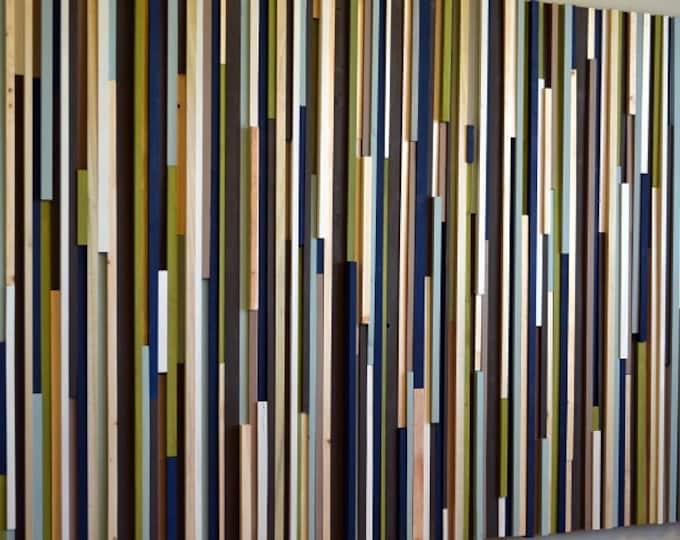 Wood Wall Art - Extra Large Wall Art - Modern Wall Art - 48x72