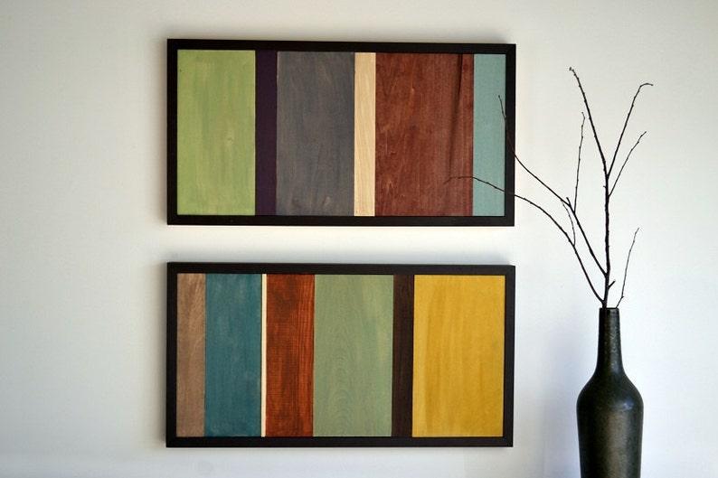 Wood Wall Art  Wood Art  Reclaimed Wood Art  Painting on image 0