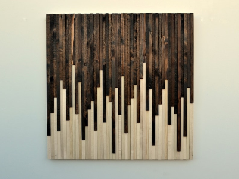 Wood Wall Art Large Wall Art Rustic Wood Art Wood image 0