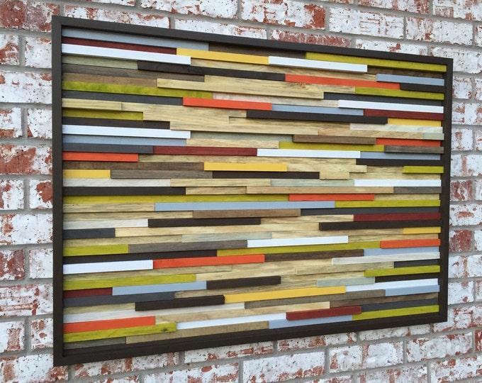 Wood Wall Art -  3D Art - Reclaimed Wood  Art - Abstract Sculpture - 42X30