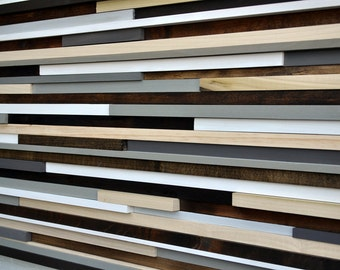 Wood Wall Art - Queen Headboard -  Wooden Wall Art - Reclaimed Wood Art - 3D Art -  20x64
