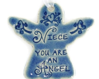 Niece gift Niece you are an angel religious Christmas ornaments  Christmas ornaments for gift for her holiday angel angel ornaments