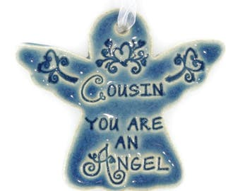 Christmas ornaments Cousin ornament religious ornament Christmas ornament holiday gift Cousin gift Christmas angel angel ornament